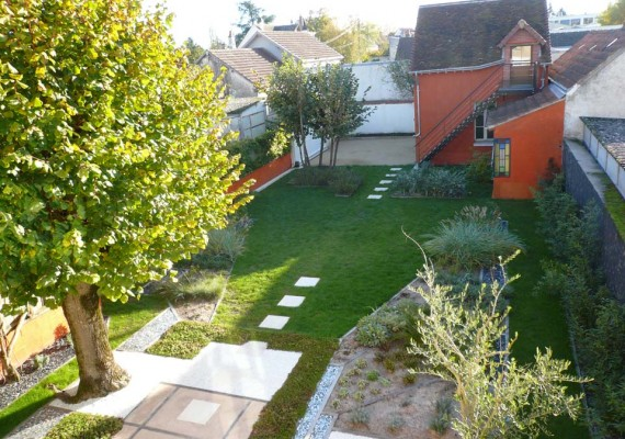 Private garden in Romorantin-Lanthenay